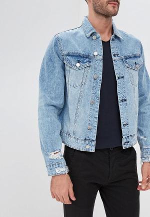 Куртка джинсовая Cheap Monday CH839EMCBOD2. Цвет: голубой