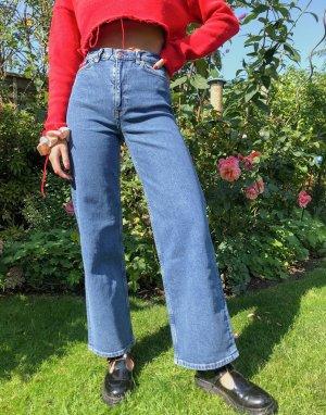 Синие широкие джинсы из органического хлопка -Синий & Other Stories