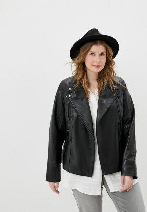 Куртка кожаная Le Monique К270SS18/2. Цвет: черный