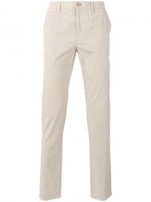 Классические брюки-чинос Burberry. Цвет: телесный