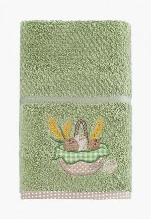 Полотенце Karna. Цвет: зеленый