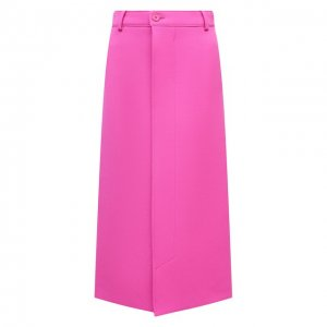 Шерстяная юбка Balenciaga. Цвет: розовый
