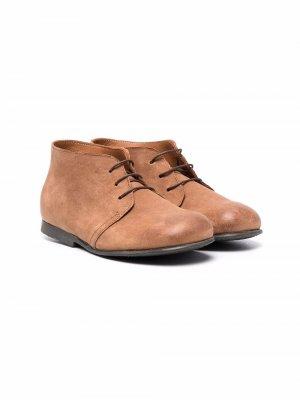 Ботинки дезерты на шнуровке Pèpè. Цвет: коричневый