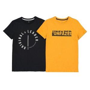 Комплект из 2 футболок с La Redoute. Цвет: желтый