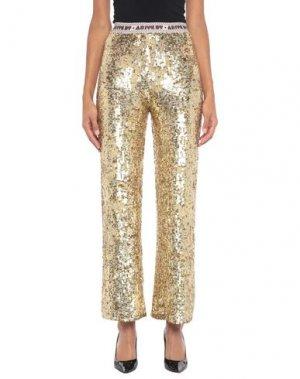 Повседневные брюки ANIYE BY. Цвет: золотистый