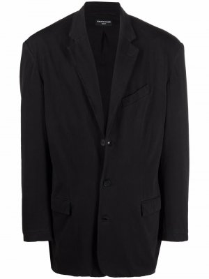 Однобортный пиджак Balenciaga. Цвет: черный