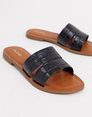 Черные сандалии-слипоны Aldo-Черный ALDO