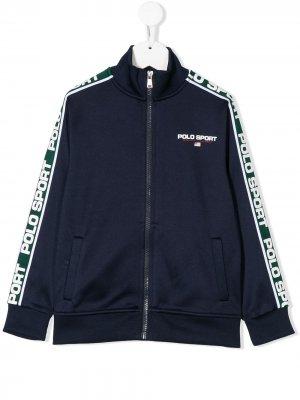 Спортивная куртка с логотипом Ralph Lauren Kids. Цвет: синий
