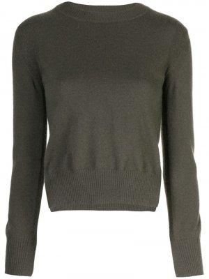 Укороченный пуловер с разрезами по бокам Rosetta Getty. Цвет: зеленый