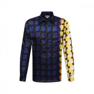 Рубашка из вискозы Dries Van Noten. Цвет: разноцветный
