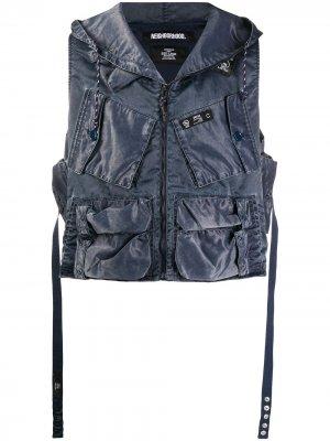 Куртка с капюшоном и накладными карманами Neighborhood. Цвет: синий