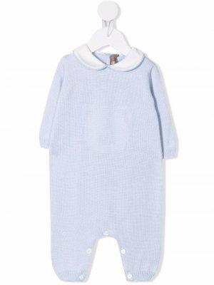 Knitted long-sleeve babygrow Little Bear. Цвет: синий