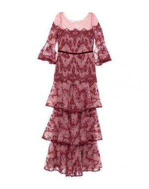 Длинное платье MARCHESA NOTTE. Цвет: розовый
