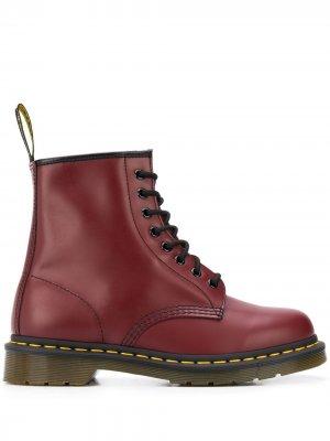 Ботинки 1460 в стиле милитари Dr. Martens. Цвет: красный