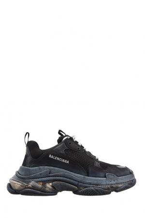 Черные кроссовки Triple S Clear Sole Balenciaga Man. Цвет: черный