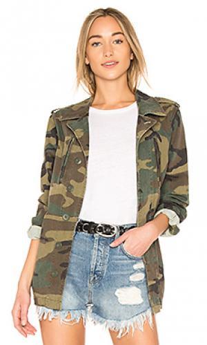 Пальто с камуфляжным принтом french field ALPHA INDUSTRIES. Цвет: зеленый