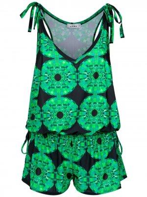 Printed drawstring waist Amir Slama. Цвет: verde
