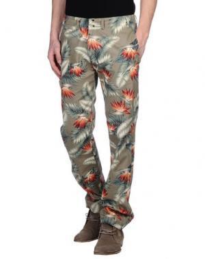 Повседневные брюки GARBSTORE. Цвет: зеленый-милитари