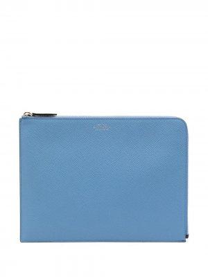 Сумка для ноутбука Smythson. Цвет: синий