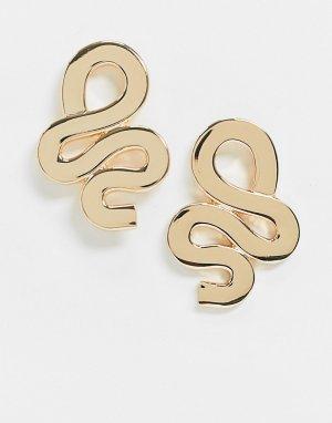 Золотистые серьги -Золотой ASOS DESIGN