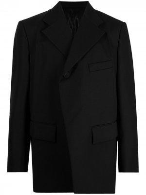 Пиджак асимметричного кроя Wooyoungmi. Цвет: черный