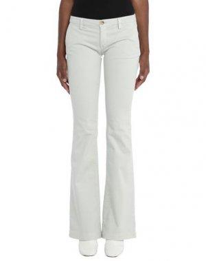 Повседневные брюки CARE LABEL. Цвет: светло-серый