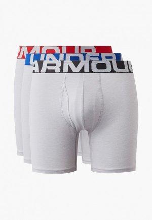 Комплект Under Armour UA Charged Cotton 6in 3 Pack. Цвет: серый