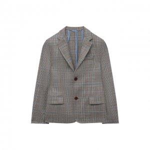 Шерстяной пиджак Dal Lago. Цвет: коричневый