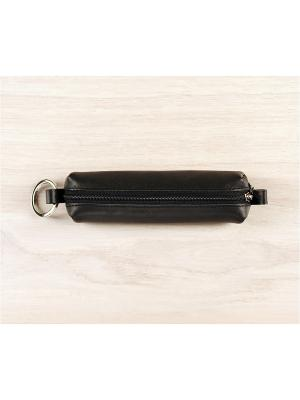 Ключница-футляр, на молнии, Black Domenico Morelli. Цвет: черный