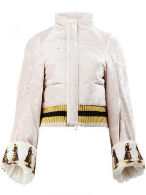 Куртка-бомбер с принтом Undercover. Цвет: розовый и фиолетовый
