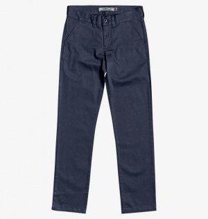 Детские брюки DC Worker SHOES. Цвет: темно-синий