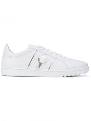 Кеды на шнуровке Versace. Цвет: белый