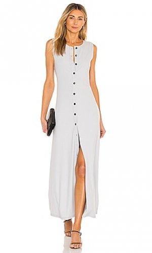 Платье mira Callahan. Цвет: серый
