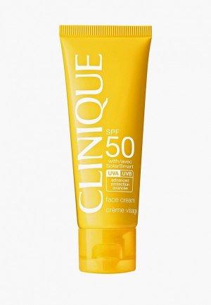 Крем солнцезащитный Clinique Face Cream SPF 50. Цвет: белый