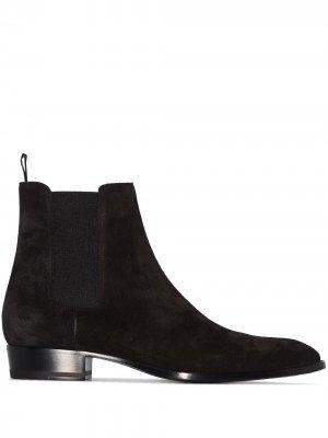 Ботинки челси Wyatt 30 Saint Laurent. Цвет: коричневый