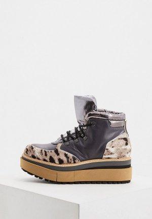 Ботинки Fabi. Цвет: серый