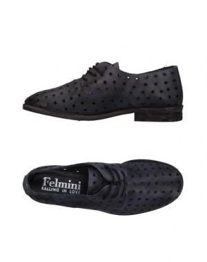 Обувь на шнурках FELMINI. Цвет: стальной серый