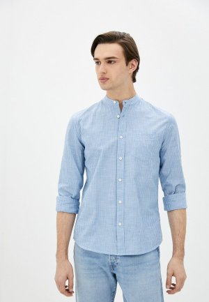Рубашка Al Franco. Цвет: голубой