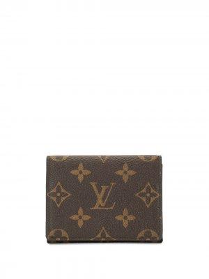 Картхолдер 2019-го года с монограммой Louis Vuitton. Цвет: коричневый