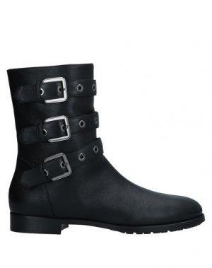 Полусапоги и высокие ботинки LONGCHAMP. Цвет: черный