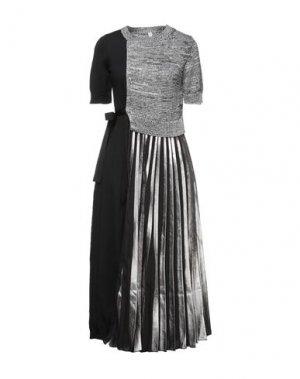 Длинное платье ANTONIO MARRAS. Цвет: черный