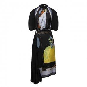 Шелковое платье Lanvin. Цвет: чёрный