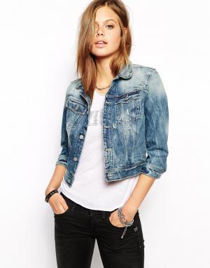 Джинсовая куртка G-Star. Цвет: умеренный синий