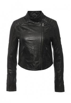 Куртка кожаная Tommy Hilfiger Denim. Цвет: черный