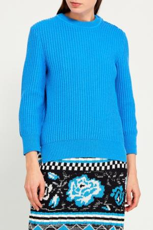 Пуловер с пуговицами Nina Ricci. Цвет: синий