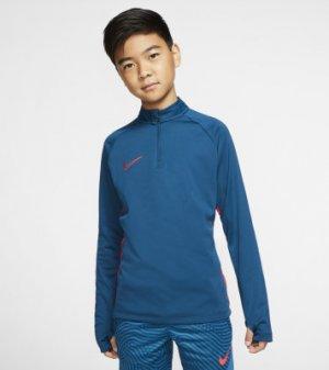 Джемпер футбольный для мальчиков Dri-FIT Academy, размер 158-170 Nike. Цвет: синий