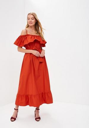 Платье Rinascimento Pure Code. Цвет: оранжевый
