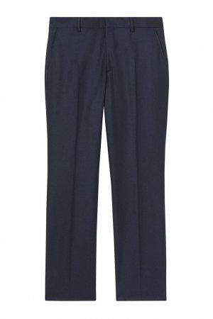 Классические брюки темно-синего цвета Burberry. Цвет: синий