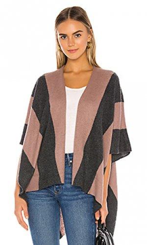 Облегающий свитер White + Warren. Цвет: mauve,gray