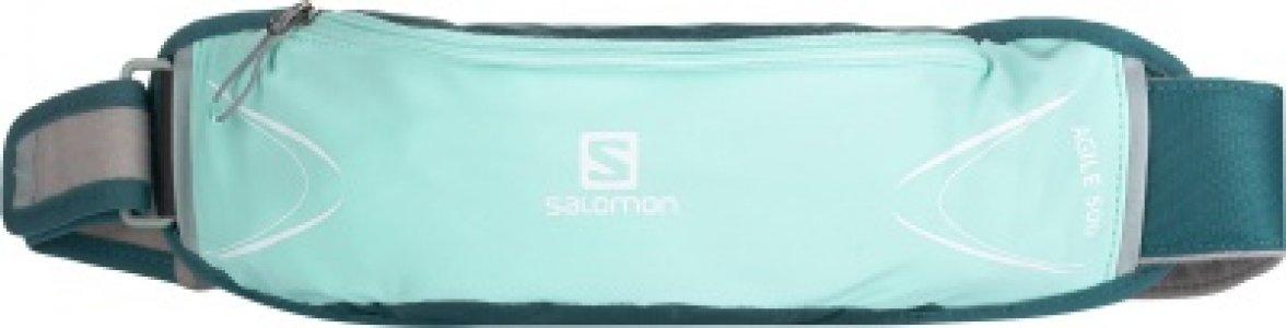 Сумка на пояс женская Agile 500 Salomon. Цвет: зеленый